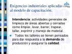 exigencias industriales aplicadas al modelo de capacitaci n4