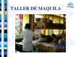 taller de maquila