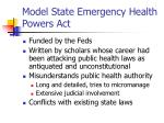model state emergency health powers act