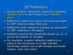 3d reflections