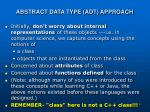 abstract data type adt approach