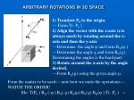 arbitrary rotations in 3d space2