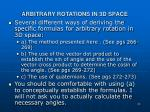 arbitrary rotations in 3d space3