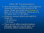 other 3d transformations