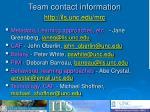 team contact information http ils unc edu mrc