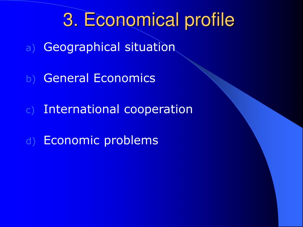 3. Economical profile