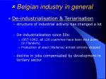 belgian industry in general21