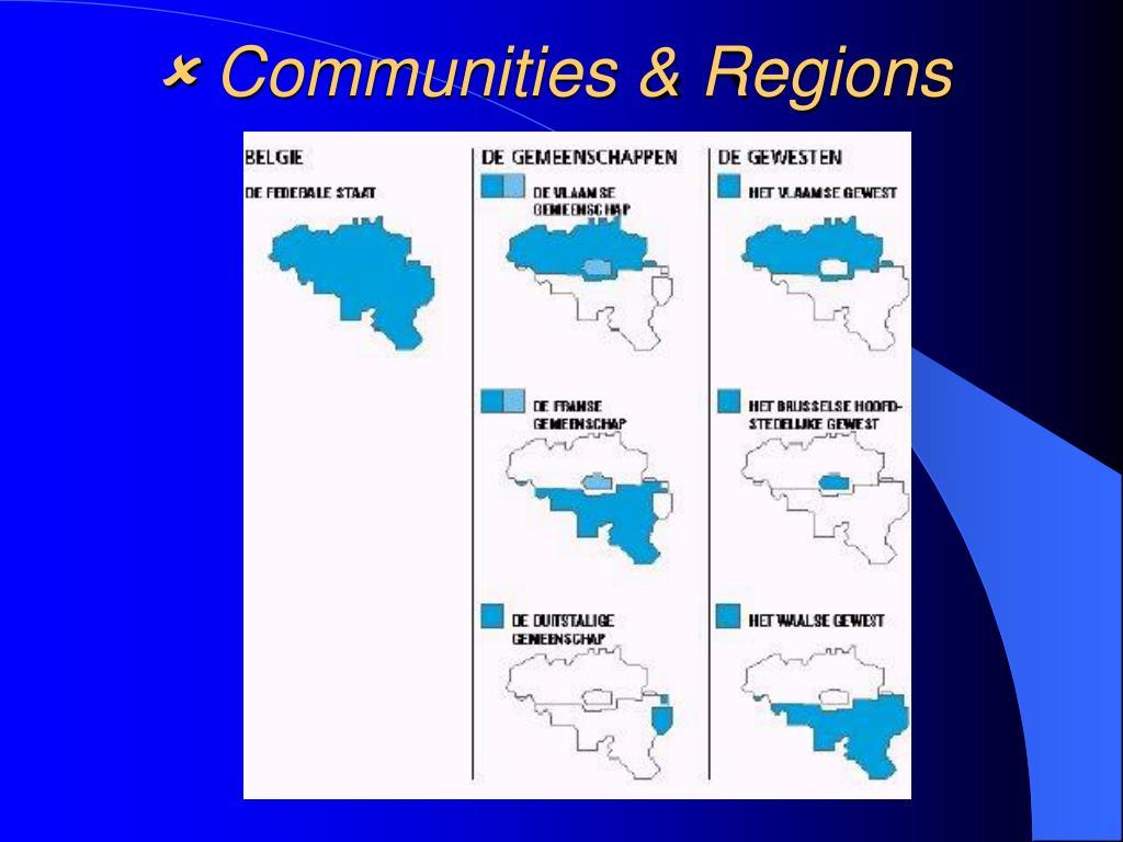  Communities & Regions