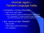 kortrijk region flanders language valley24