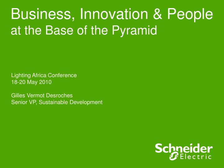 business innovation people at the base of the pyramid n.