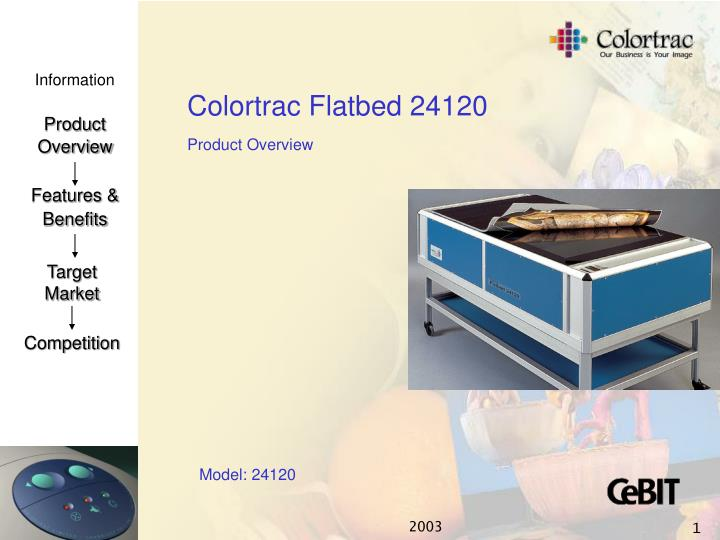 colortrac flatbed 24120 n.