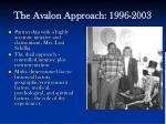 the avalon approach 1996 2003