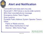 alert and notification
