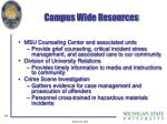 campus wide resources