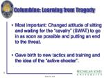 columbine learning from tragedy