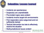 columbine lessons learned