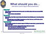 what should you do information used in support staff presentations1