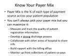 know your payer mix