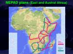 nepad plans east and austral africa