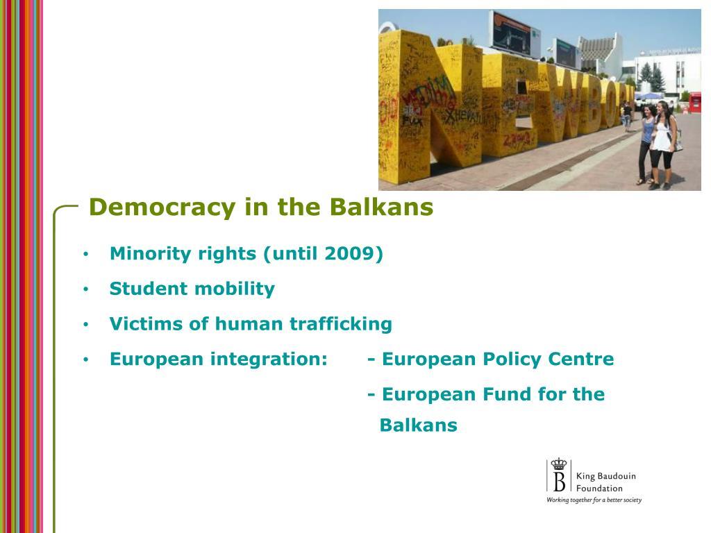 Democracy in the Balkans