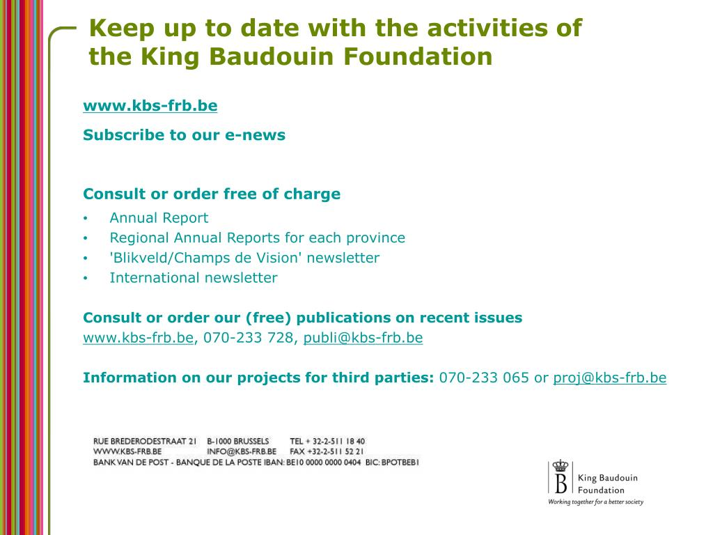 Keep up to date with the activities