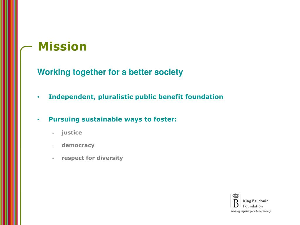 Working together for a better society