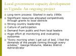 local government capacity development in uganda an ongoing project