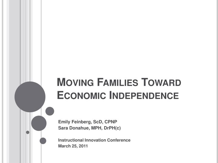 moving families toward economic independence n.
