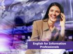 english for information professionals