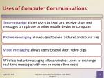 uses of computer communications2