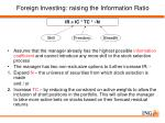 foreign investing raising the information ratio