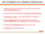 key elements of adding foreign inv
