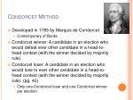 condorcet method