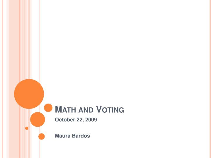 math and voting n.