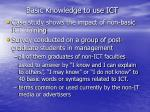 basic knowledge to use ict1
