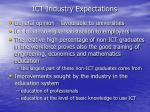 ict industry expectations