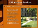 css advisory sessions