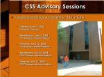 css advisory sessions1