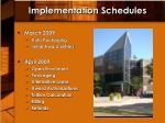implementation schedules2