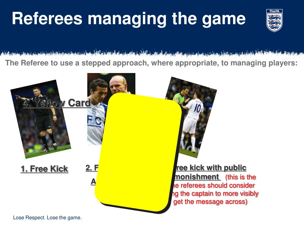 Referees managing the game