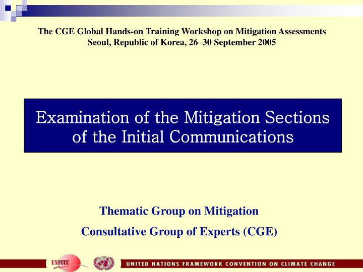 examination of the mitigation sections of the initial communications n.