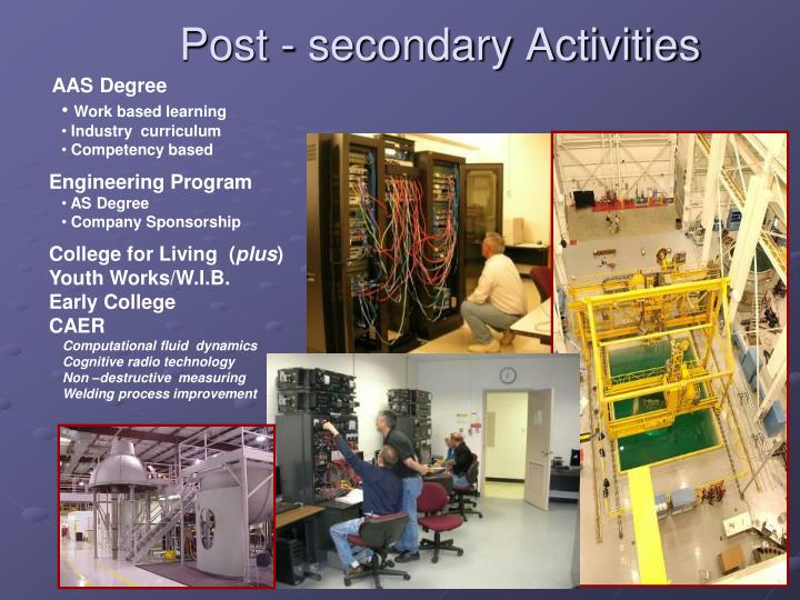 Post - secondary Activities