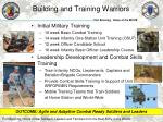 building and training warriors