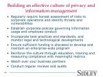 building an effective culture of privacy and information management
