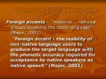 foreign accent production based and perceptual joseph conrad phenomenon
