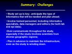 summary challenges
