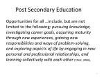 post secondary education
