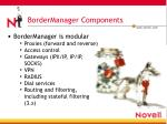 bordermanager components