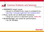 common problems and solutions2