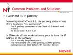 common problems and solutions7
